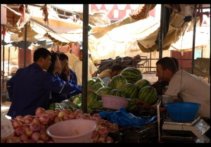 Chinese workers at In Salah market by [ john ] on Flickr